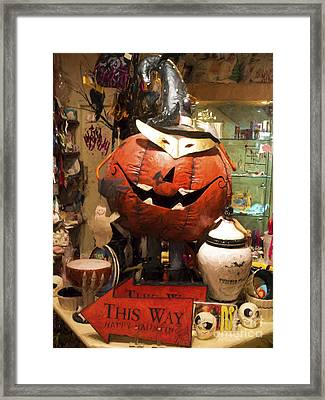 Halloween This Way Framed Print by Gillian Singleton