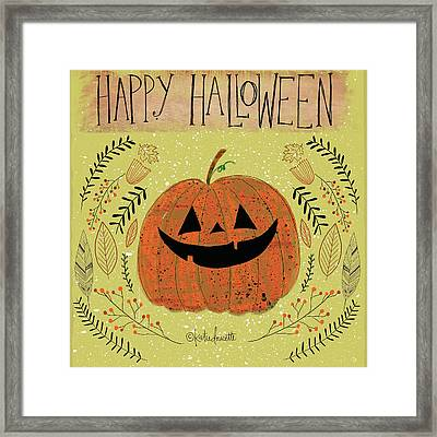 Happy Halloween Framed Print by Katie Doucette