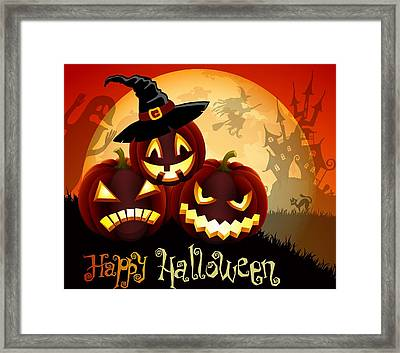 Happy Halloween Framed Print by Gianfranco Weiss