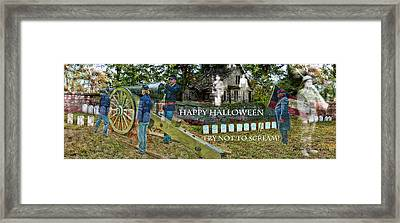 Happy Halloween-try Not To Scream Framed Print by EricaMaxine  Price