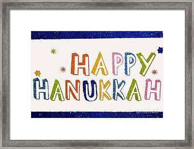Happy Hanukkah 2013 Framed Print by Tikvah's Hope