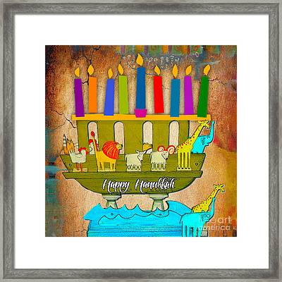 Happy Hanukkah Framed Print by Marvin Blaine