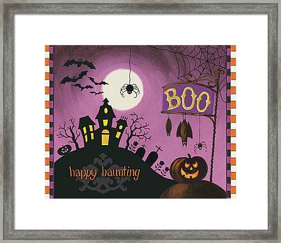Happy Haunting Boo Framed Print by Lisa Audit