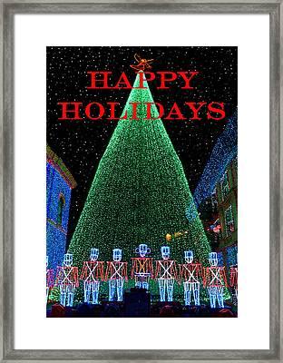 Happy Holidays Framed Print by David Lee Thompson