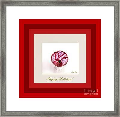 Happy Holidays. Red Poppy Framed Print by Oksana Semenchenko