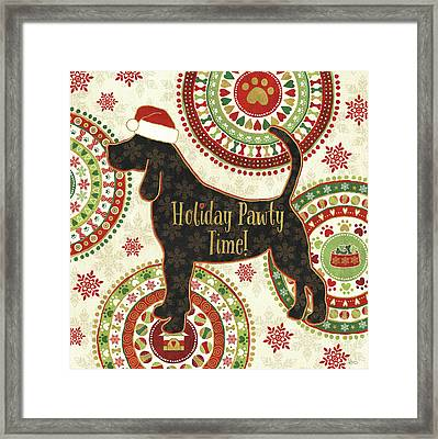 Happy Holidogs II Framed Print by Veronique Charron