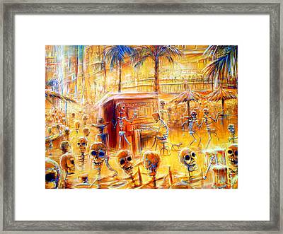 Happy Hour Closer View Framed Print by Heather Calderon