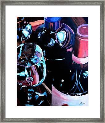 Happy Hour Framed Print by Donna Tuten