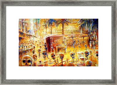 Happy Hour Framed Print by Heather Calderon