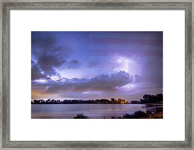 Happy Independence Day Framed Print by James BO  Insogna