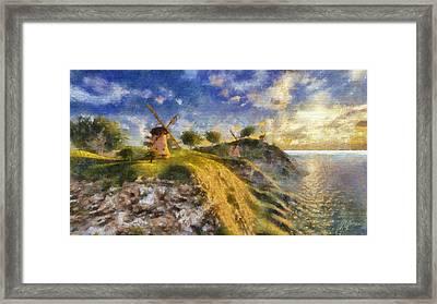 Happy Mills Framed Print by Marina Likholat