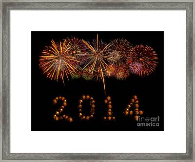 Happy New Year 2014 Framed Print by Anek Suwannaphoom
