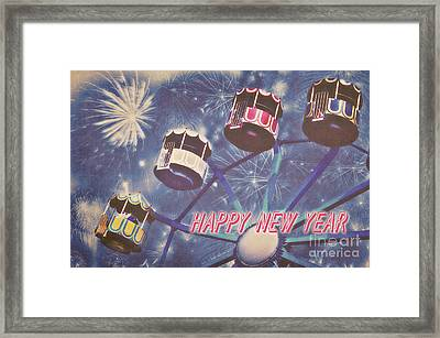 Happy New Year Framed Print by Angela Doelling AD DESIGN Photo and PhotoArt