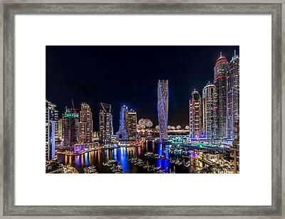 Happy New Year Dubai Framed Print by Vinaya Mohan