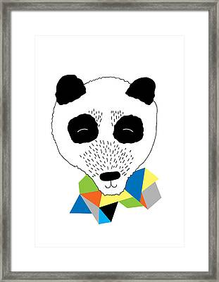 Happy Panda Framed Print by Susan Claire