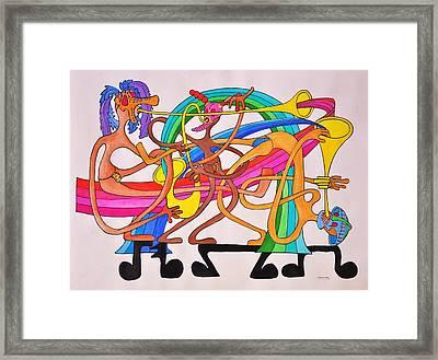 Happy People Horns Framed Print by Glenn Calloway
