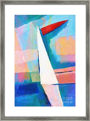 Happy Sailing Framed Print by Lutz Baar