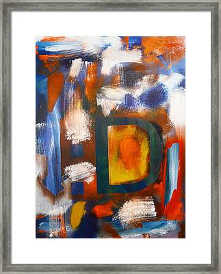 Happy Things By 4 Year Old Artist Framed Print by Sydney Marlow