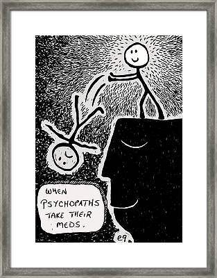 Happy Thoughts Framed Print by e9Art