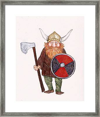 Happy Viking Framed Print by Peggy Wilson