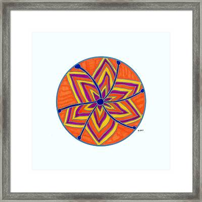Hara Chakra Flow Framed Print by Kaia Lyngroth