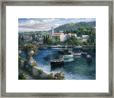 Harbor Boats Framed Print by Ghambaro