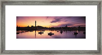 Harbor Cape Cod Ma Framed Print by Panoramic Images