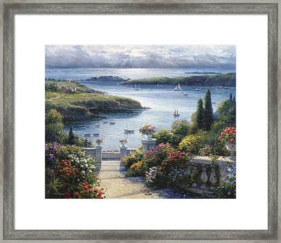 Harbor Garden Framed Print by Ghambaro