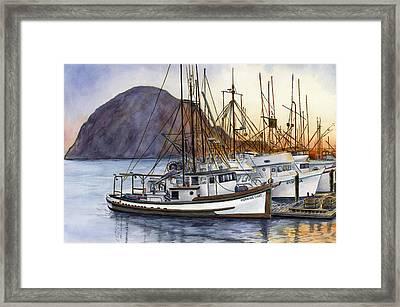 Harbor Home Framed Print by Karen Wright