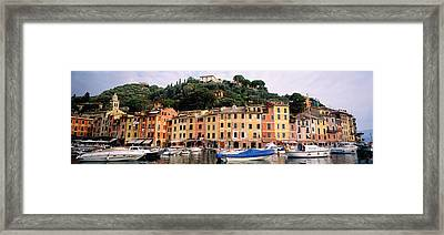 Harbor Houses Portofino Italy Framed Print by Panoramic Images