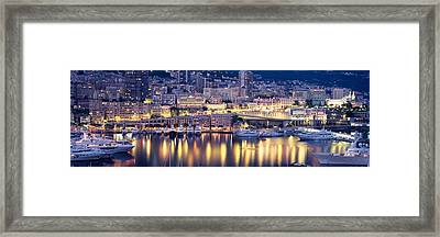 Harbor Monte Carlo Monaco Framed Print by Panoramic Images