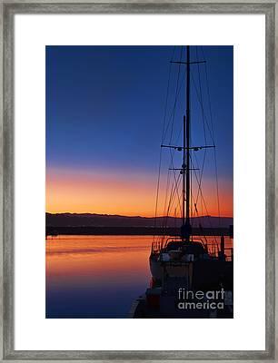 Harbor Sunrise Framed Print by Eddie Yerkish