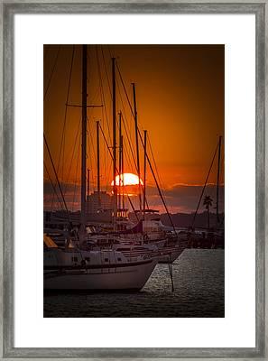 Harbor Sunset Framed Print by Marvin Spates