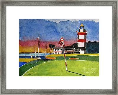 Harbor Town 18th Sc Framed Print by Lesley Giles