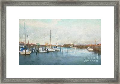 Harbor Morning Framed Print by Terry Rowe