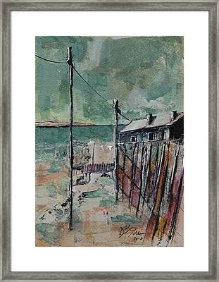 Harbormaster's Home Away From Home Framed Print by Diane Strain