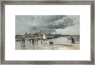 Harbour At St. Vaast The Hague Framed Print by Frank Myers Boggs