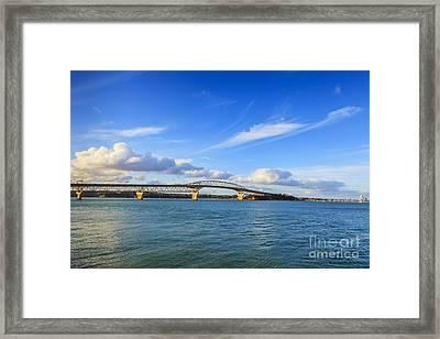 Harbour Bridge Auckland New Zealand Framed Print by Colin and Linda McKie