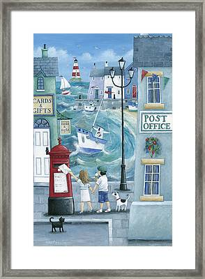 Harbour Post Framed Print by Peter Adderley