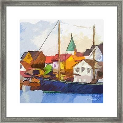 Harbour Seascape Framed Print by Lutz Baar