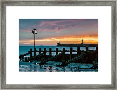 Harbour Sunrise Framed Print by Dave Bowman