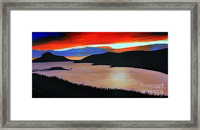 Harbour Sunset Framed Print by Barbara Griffin