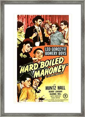 Hard Boiled Mahoney, Us Poster, Top Framed Print by Everett