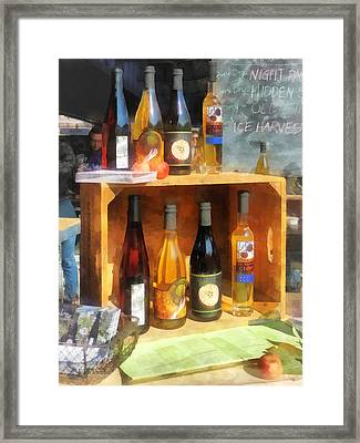 Hard Cider Framed Print by Susan Savad