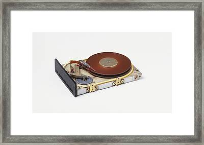 Hard Disc From A Computer Framed Print by Dorling Kindersley/uig
