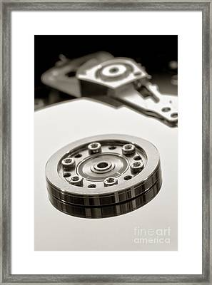 Hard Drive Framed Print by Olivier Le Queinec