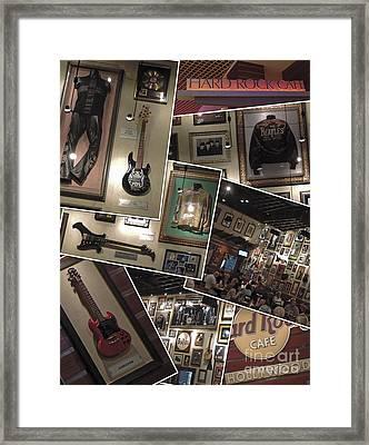 Hard Rock Cafe Hollywood Florida Framed Print by Nancy L Marshall