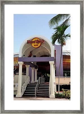 Hard Rock Cafe Miami Framed Print by Bradford Martin