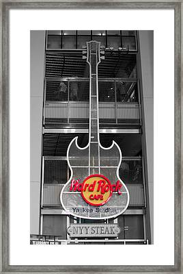 Hard Rock Cafe Sign Full  Framed Print by Aurelio Zucco