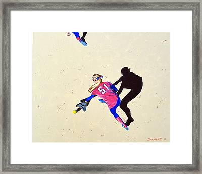 Hard To The Right Framed Print by Darrell Sheppard